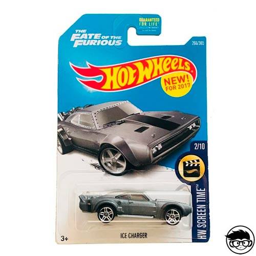 Hot Wheels Fast & Furious Ice Charger HW Screen Time 266/365 Long Card 2018 *