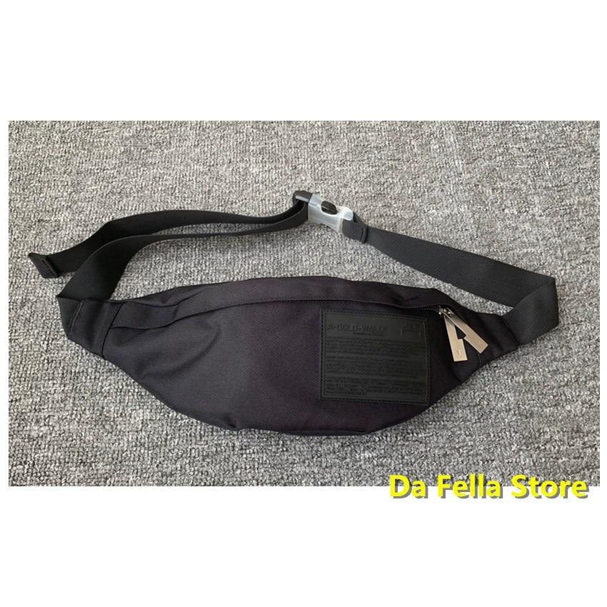 1:1 Good Quality A COLD WALL Waist Packs Men Women Classic British Street Culture A-COLD-WALL* Waist Bags Metal Zipper ACW Bag