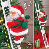 Рождественский Санта Клаус Электрический подъем лестница Декор витрины дом Рождественская елка висячие украшения