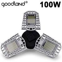 Lámpara LED Goodland E27 bombilla LED 60W 80W 100W Luz de garaje 110V 220V luz deforme para taller almacén fábrica gimnasio