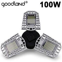 Goodland светодиодный светильник E27 светодиодный лампы 60 Вт 80 Вт 100 Вт гараж светильник 110V 220 V; не деформируется и не светильник для склада цехов ...