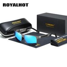 Royalhot men feminino polarizado óculos de sol quadro de magnésio de alumínio óculos de condução máscaras oculos masculino p10030