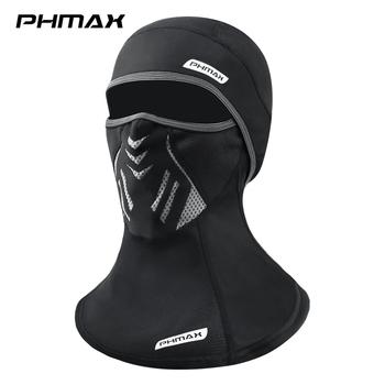 PHMAX polarowa maska narciarska zimowy rower MTB maska kolarska na twarz z filtrami utrzymuj ciepło Split maska rower sportowy nakrycia głowy czapka tanie i dobre opinie CN (pochodzenie) Jeden rozmiar Szalik do jazdy na rowerze Z bawełny organicznej Cycling Skiing Skating Hiking Fishing PM-ZPMZ-LF7957-T