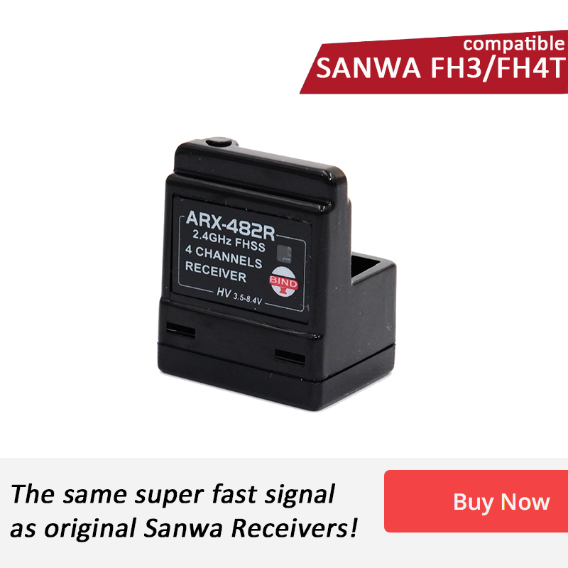 ARX 482R Compatible Sanwa FH3 FH4T 4 Channel Surface Receiver special for RC Car and Boat