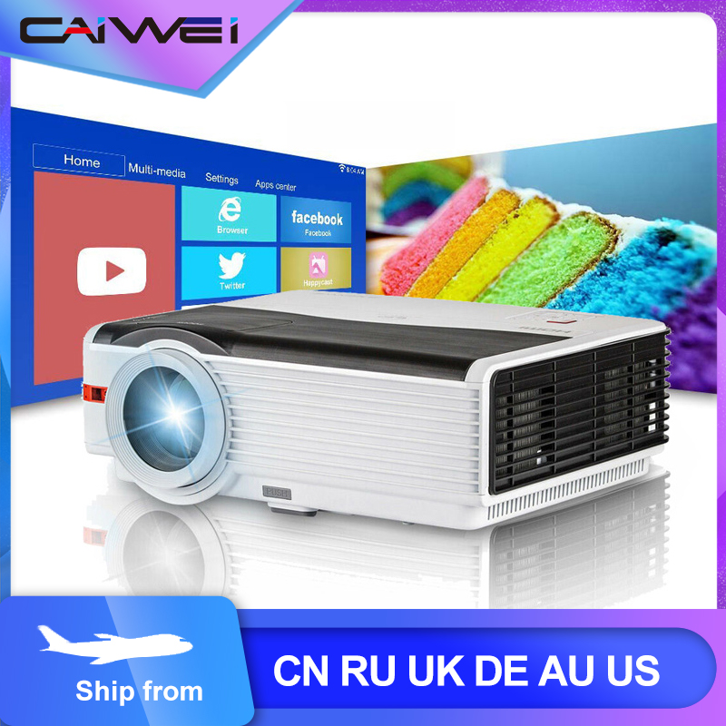 Caiwei A9/A9AB Smart Android WiFi LCD LED 1080p Projector Home Cinema 8000 Lumens Full HD Video Mobile Beamer For Smartphone TV(China)