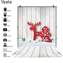 Рождественская фотосессия yeele снег дерево Лось сани декор
