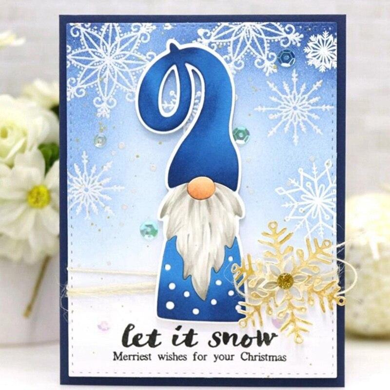 New Design Craft Santa Metal Cutting Dies Gnome Santa Claus Decor Scrapbook Album Paper Card Craft Embossing Die Cuts