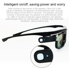 Lightweight Active Shutter Rechargeable 3D Glasses Goggles for DLP LINK Projector OUJ99