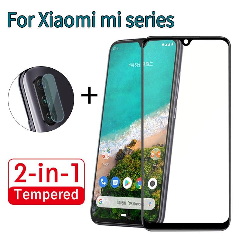 2 In 1 Lite Camera Lens Full Cover Tempered Glass For Xiaomi Mi A1 A2 A3 Screen Protective Glass Film For Xiaomi  A1 A2 A3 Lite