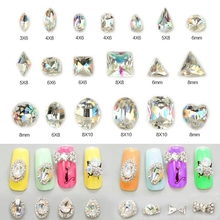 Crystal Rhinestone Fingernail Decoration-Accessories Glass Nail-Art AB Fashion DIY K9