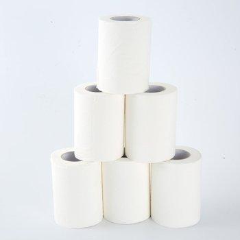 6 rolek papier toaletowy papier toaletowy papier toaletowy papier toaletowy papier toaletowy papier toaletowy restauracja Hotel Roll Paper tanie i dobre opinie 3 ply 23 7cm*15 5cm*10cm Recyklingu pulpy Household toilet paper 496g 6 rolls * Household toilet paper Wood pulp white toilet tissue