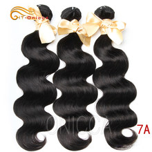 Htonicca Brazilian Body Wave Hair Natural Color Weave Bundles 100% Human Hair weaving 1/3/4 Piece 8-28 inch Remy Hair Extension(China)