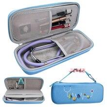 新 Eva ハードシェルポータブル聴診器収納袋旅行のためのキャリングケースボックスハードドライブペン医療オーガナイザー 3 メートル聴診器