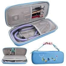 Yeni EVA sert kabuk taşınabilir stetoskop saklama çantası seyahat taşıma çantası kutusu sabit disk kalem tıbbi organizatör 3m stetoskop