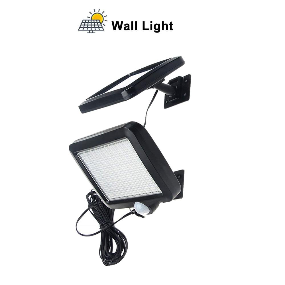 LED Garden Solar Light PIR Motion Sensor Outdoor Camping Waterproof Garage Yard Gate Pathway Security Lamp Solar Wall Spot Light