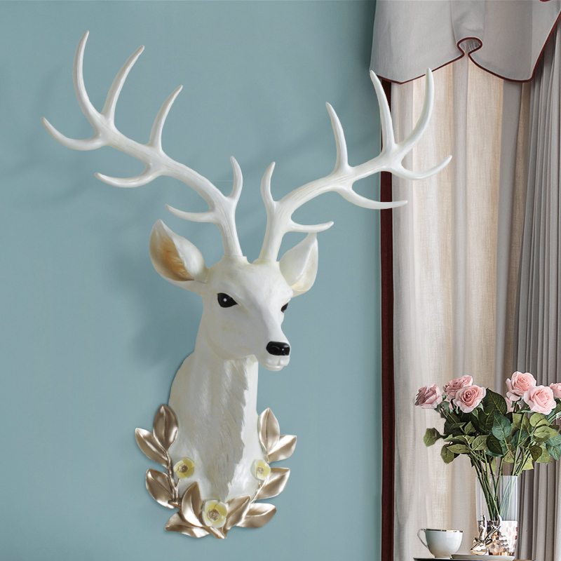 Deer head decoration wall hanging Large Nordic Living Room Wall Pendant Modern simplicity Resin Decorations