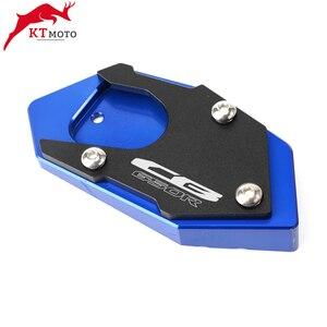 Image 3 - Placa de soporte de almohadilla de extensión de caballete CNC para motocicleta Honda CB 650R CBR 650R CB650R 2003 2012