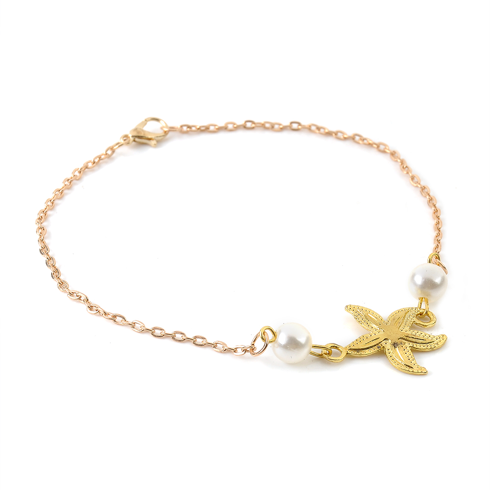 2020 Bohemian Sandals Foot Jewelry Charms Chain Ankle Bracelet Female gold starfish Anklets Bracelets for Women Barefoot 3
