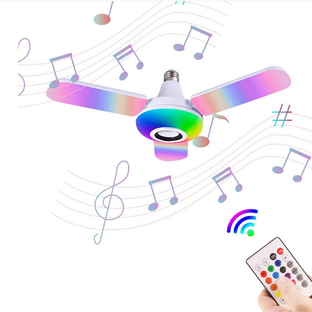 Smart E27 RGB Led Lampe Mit Bluetooth lautsprecher 40W 50W LED Licht Einstellbare Musik Licht Wireless-LED licht Faltbare Birne
