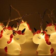 10 pc lights Ins new  LED night light 1.8M animal string childrens room decoration unicorn cartoon cute gift