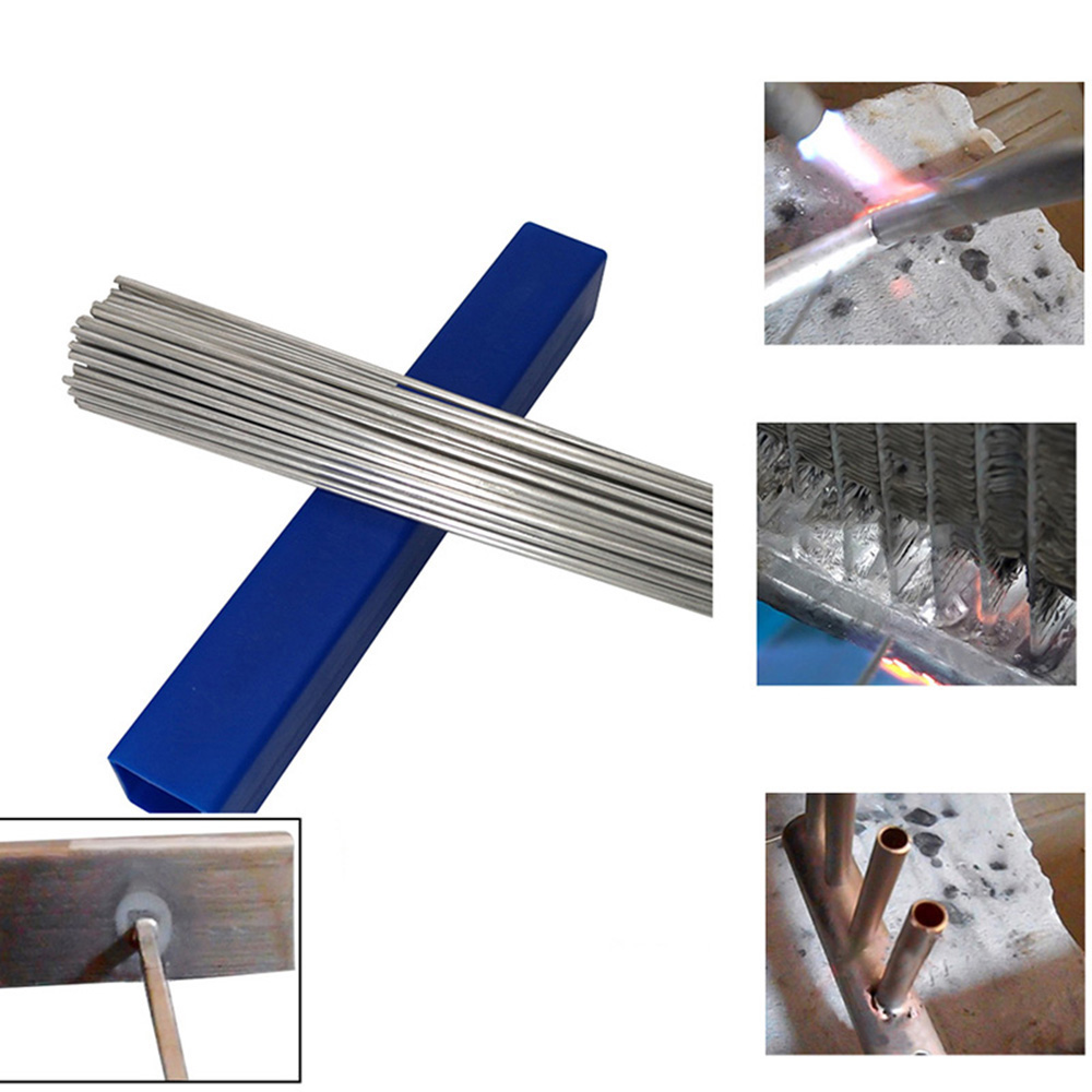 1.6/2/3mm Aluminum Welding Brazing Rod Low Temperature Aluminum Solder Rod Welding Wire Flux Cored No Need Solder Powder 50pcs