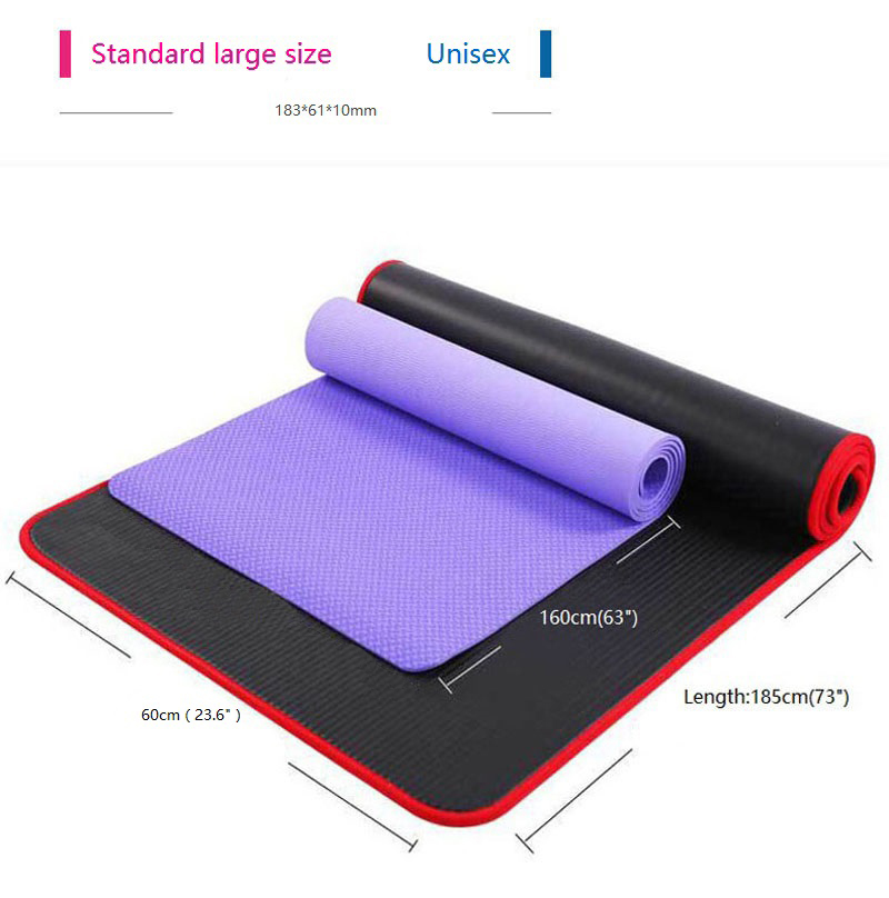 Exercise Sports Gym NBR Non-Slip Mats Fitness Sit-ups Body Shape Yoga Mat 10mm Thick Pilates Anti-Tearing Beginner Pads 11