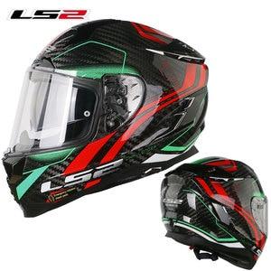 Image 5 - LS2 FF327 Challenger Full Face Motocycle Helmet Carbon Fiber Man Woman capacete ls2 Helemt With Inner Sun len  Racing Casco Moto