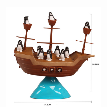 PIRATESHIP Balance Game Challenges Difficult Balance Stack Penguin PIRATESHIP Parent And Child Party Interactive Desktop Toy image