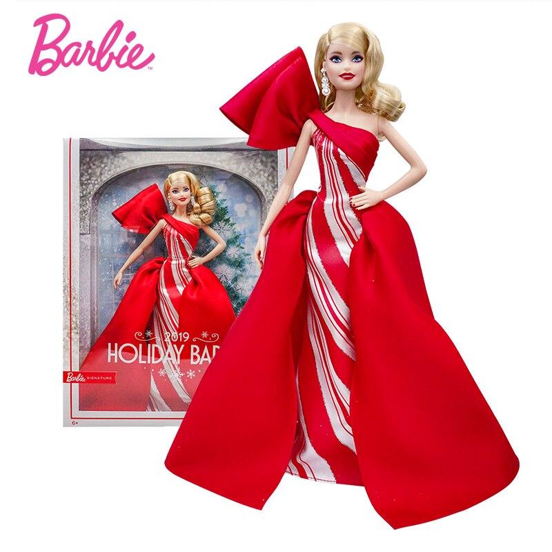 Originale Barbie Festa Bambole della Firma di Moda Street Style Anniversario Giocattoli per le Ragazze Vestito Rosso Vestiti bambole Regali Bonecas