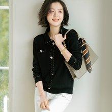 Женские новые винтажные свободные полосатые жаккардовые свитера