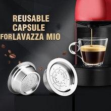 Cápsula reutilizable de café recargable, cápsula de Metal de acero inoxidable para Lavazza A Modo Mio, Jolie Espria Idola