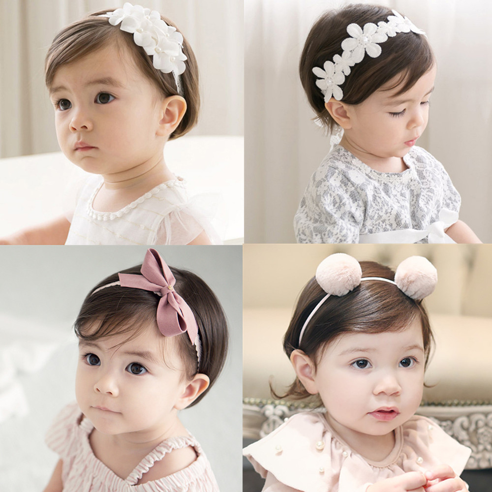 Baby Girls Headband Fashion Bow Knot Infant GIrl Bandage Kids Toddlers Head Wrap Hair Band Infant Clothes Accessories