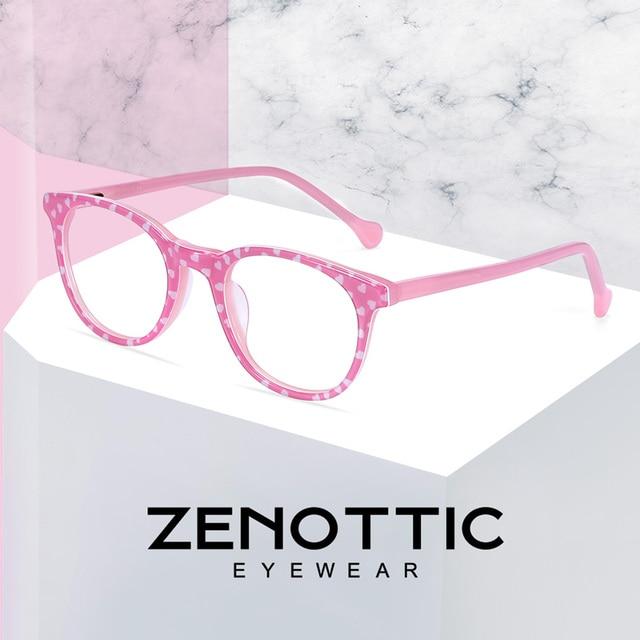 ZENOTTIC Optical Pink Cute Eyeglasses