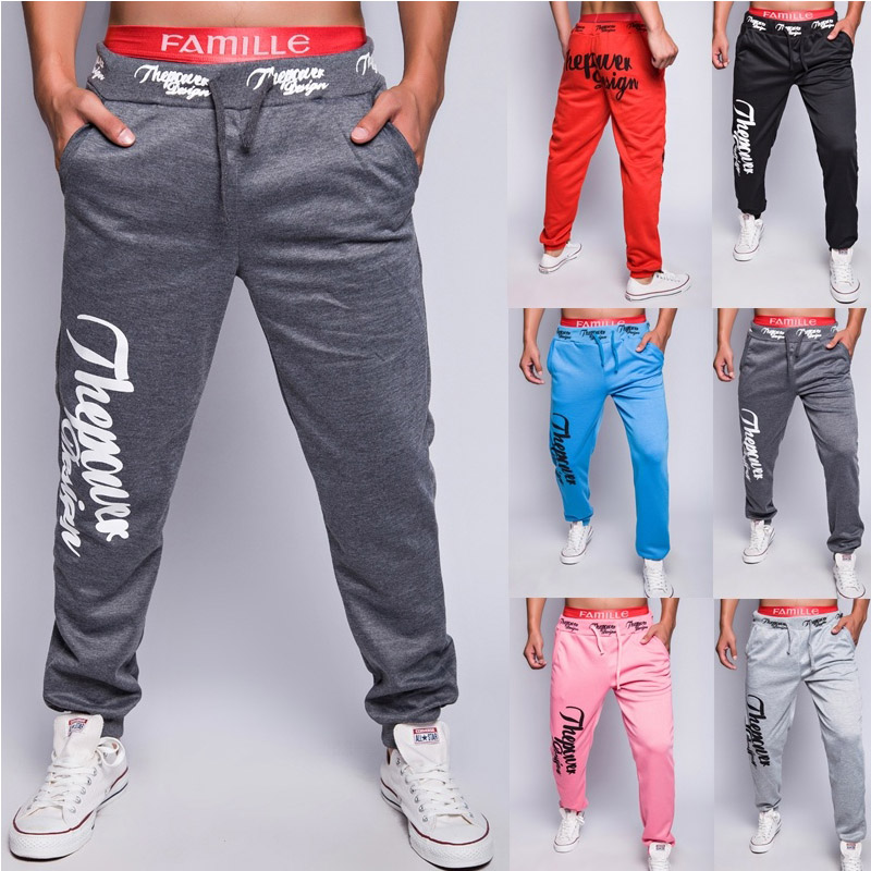 Zogaa 2019 Thin Men Letter Print Sweatpants Joggers Male Calca Masculina Hip Pop Casual Trousers Track Pants Clothes