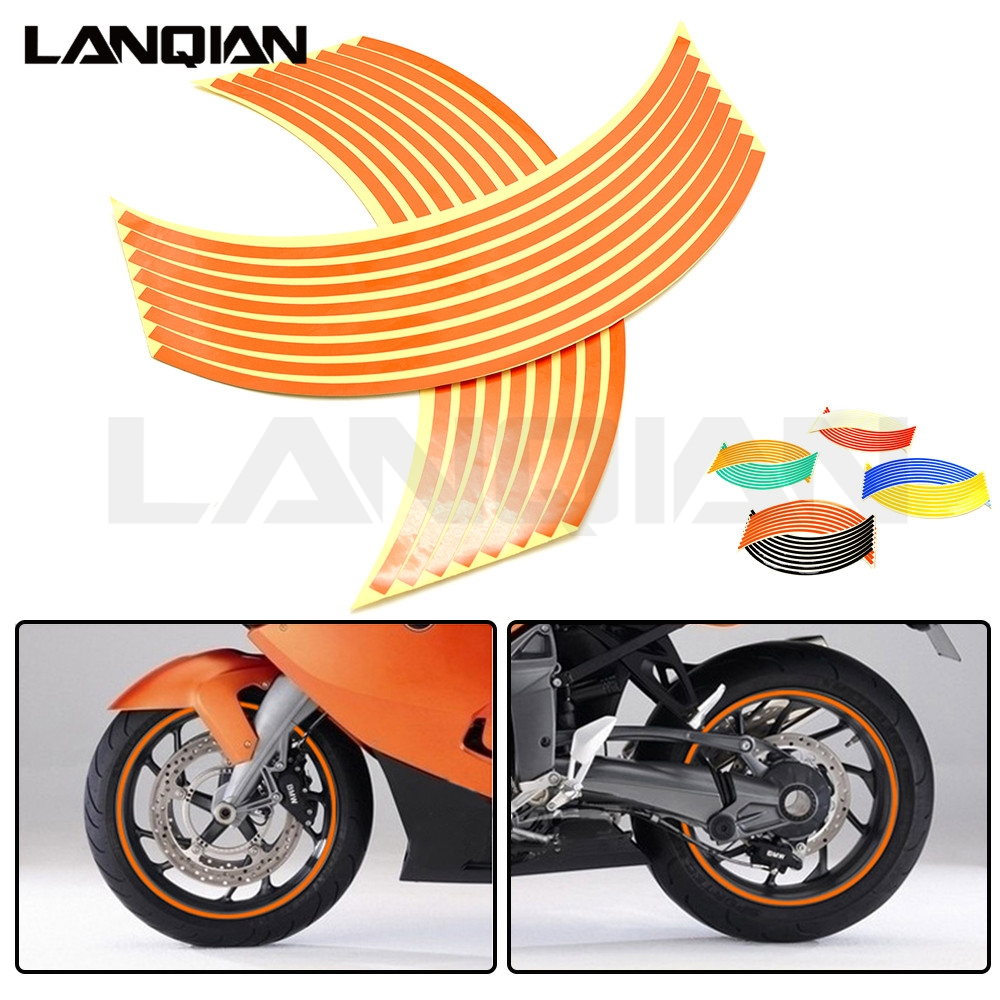 Motorcycle Wheel <font><b>Sticker</b></font> Reflective Decals Rim Tape Car/bicycle For <font><b>KTM</b></font> EXC EXCF SX SXF XC XCW XCF SIX DAYS 350 400 <font><b>450</b></font> 525 530 image