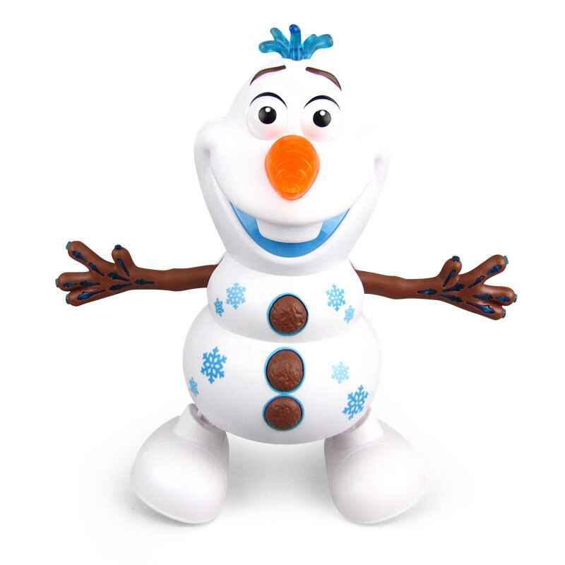 דיסני קפוא 2 שלג רוקד אולף רובוט עם Led מוסיקה פנס חשמלי פעולה איור דגם ילדים צעצוע לילדים מתנה