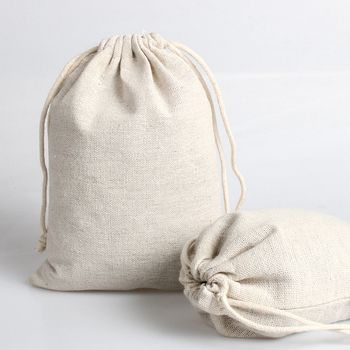 High quality cotton drawstring jewelry bag pouch cotton fabric gift storagae and packaging dust bag