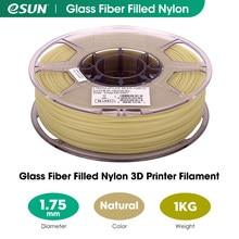 Esun filament de náilon enchido fibra de vidro 1.75mm,PA-GF filamento da impressora 3d, filamento de impressão 3d do carretel 1kg (2.2 libras) para impressoras 3d