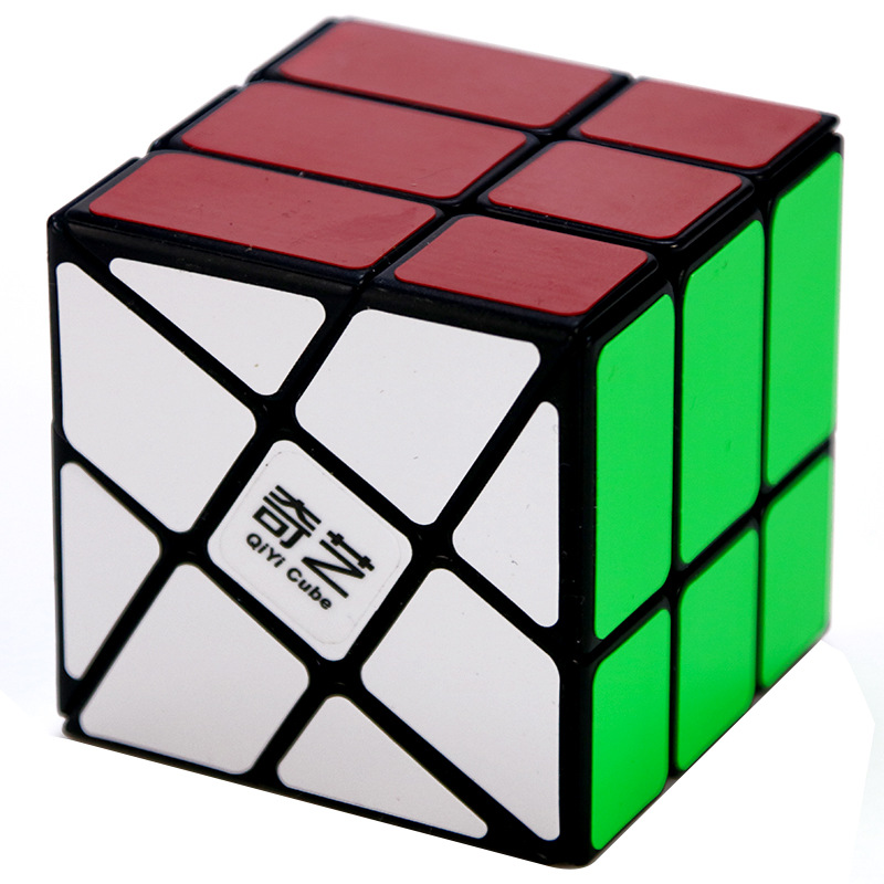 QiYi WINDMILL Cube 3x3x3 Speed For Balls Magic Cube Puzzle Toy Antistress Rubis Neo Cubo Magico Children Rubix Magnetic Toys