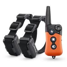 Petrainer 619A 2 köpek eğitim elektrikli yaka ile köpekler için titreşim/statik şok/tonu eğitim uyarılar tüm köpekler için