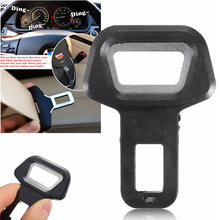 Universal Dual use Auto Car Safety Seat Belt Buckle Bottle Opener Alarm Eliminator Stopper Interior Accessories Styling Pad