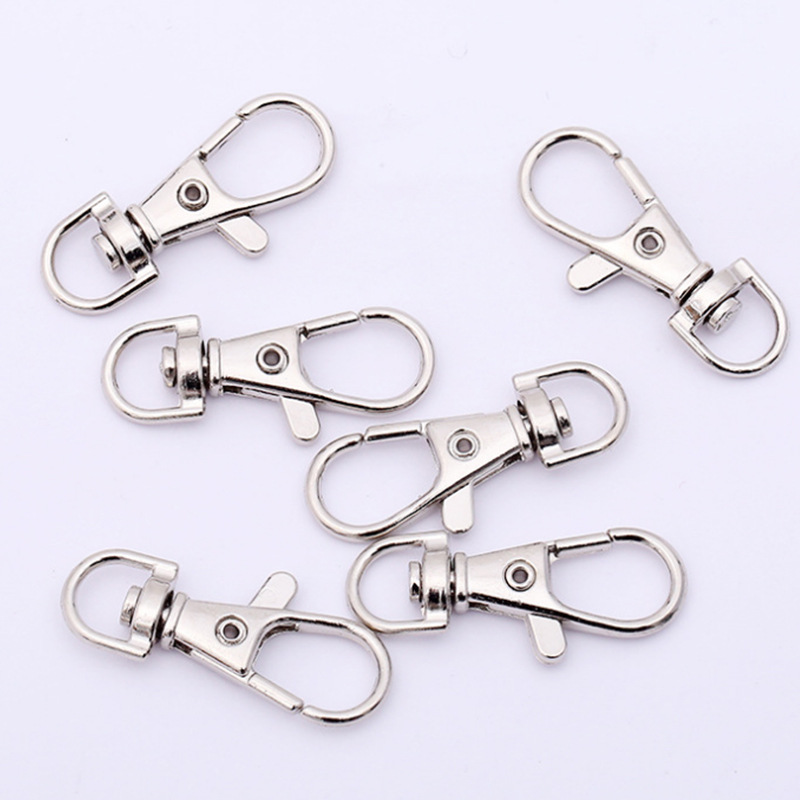 Wholesale Metal Round Lobster Trigger Swivel Clasps Clips Hook Keychain Key Ring