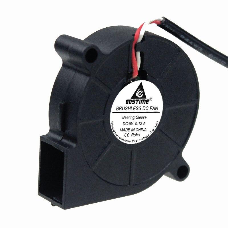 20 sztuk Gdstime DC 5015S 5V USB 5CM 50MM x 15MM 50X50X15mm turbina bezszczotkowy dmuchawa chłodząca wentylator do drukarki 3D Cooler