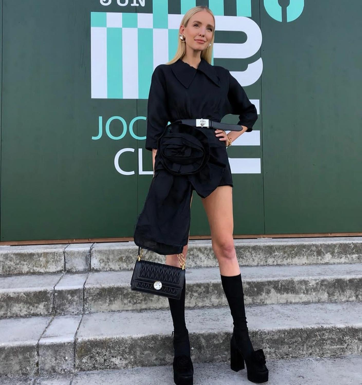 Black flower mini France chic dress Elegance and sweet fashion women  dresses thumbnail