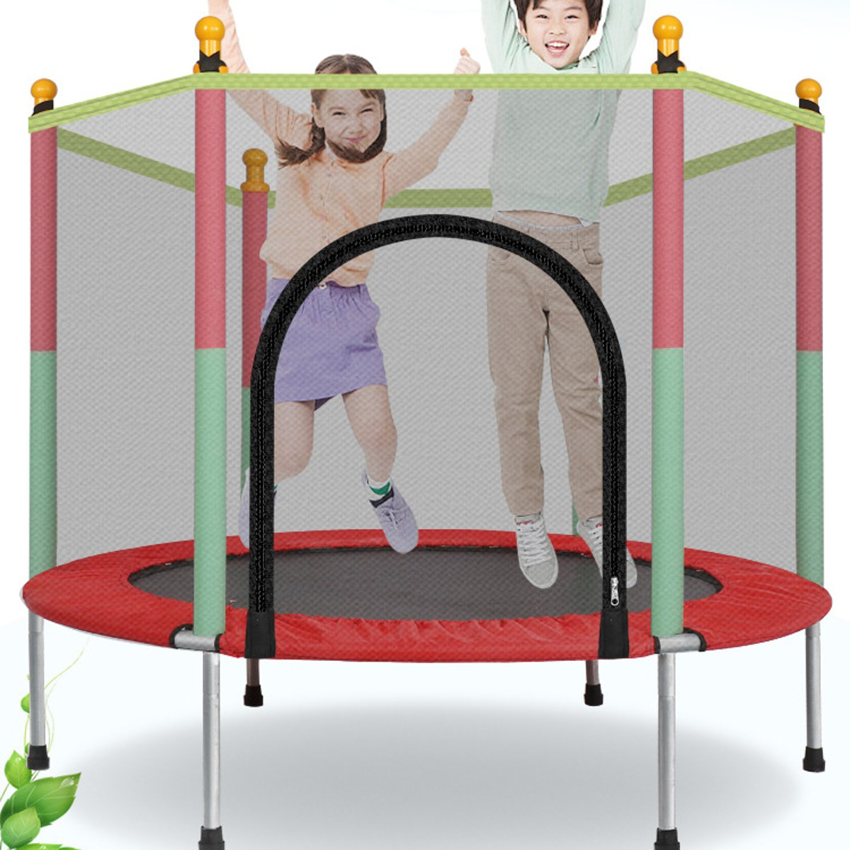 Round Indoor Trampoline With Protection Net Jumping Bed Outdoor Trampolines Exercise Bed Fitness Equipment Adult Children