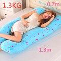 Подушка PW12 из 100% хлопка для беременных  подушки U-образной формы для сна беременных на боку  поддерживают тело во сне  с рисунком
