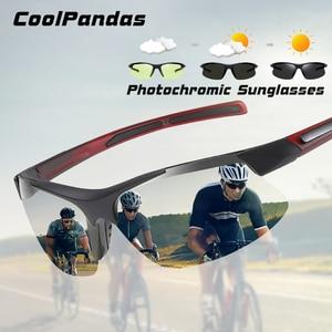 Image 1 - 브랜드 야외 스포츠 Photochromic 선글라스 남자 Polarized Day Night Vision Sun Glasses 레이디 운전 고글 lentes de sol hombre