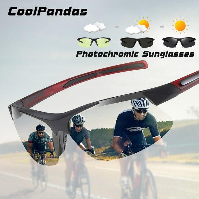 브랜드 야외 스포츠 Photochromic 선글라스 남자 Polarized Day Night Vision Sun Glasses 레이디 운전 고글 lentes de sol hombre