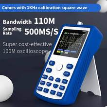 FNIRSI-1C15 osciloscópio digital profissional 500 ms/s taxa de amostragem 110mhz suporte de largura de banda analógica armazenamento de forma de onda