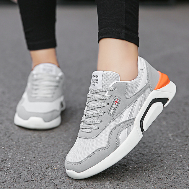 2019 spring white shoes men casual shoes breathable air mesh adult male shoes brand design couple lover footwear men sneakers
